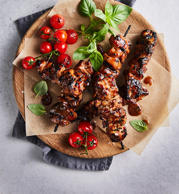 The Food Foundry | Marinades and Glazes | Sweet sticky BBQ chicken kebabs